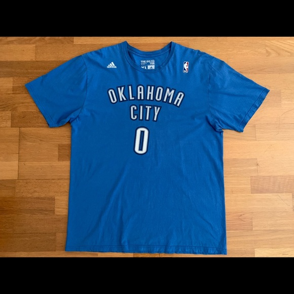 on sale 3bb20 404c4 adidas Russell Westbrook Thunder Jersey T-Shirt